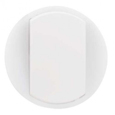 LEGRAND Céliane Enjoliveur blanc va et vient / poussoir avec couronne lumineuse doigt large - 065004