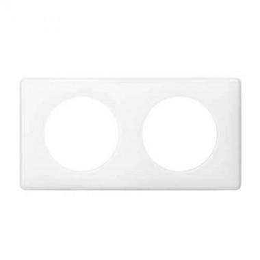 LEGRAND Céliane Plaque Memories 2 postes yesterday Blanc - 066632