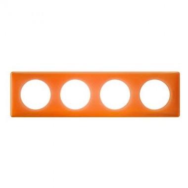 LEGRAND Céliane Plaque Memories 4 postes 70's orange - 066654