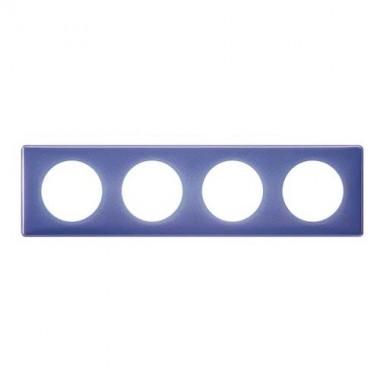 LEGRAND Céliane Plaque Memories 4 postes 90's violet - 066664