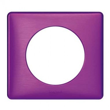 LEGRAND Céliane Plaque Métal 1 poste Violet irisé - 068711
