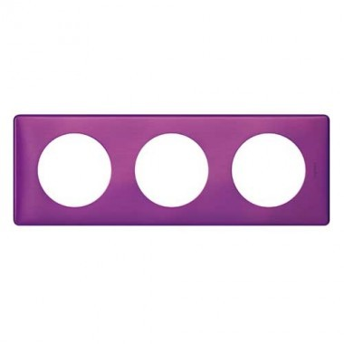 LEGRAND Céliane Plaque Métal 3 postes Violet irisé - 068713