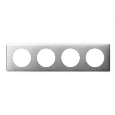 LEGRAND Céliane Plaque anodisé 4 postes Aluminium - 068924