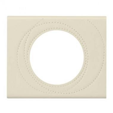 LEGRAND Céliane Plaque Matières 1 poste Cuir perle couture - 069431