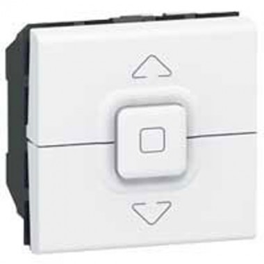 interrupteur volets roulants legrand mosaic blanc 077026. Black Bedroom Furniture Sets. Home Design Ideas