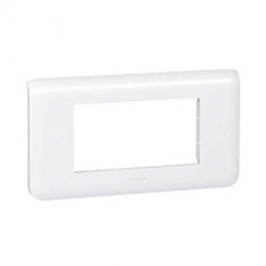 LEGRAND Mosaic Plaque horizontale 4 modules blanc - 078814