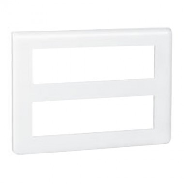 LEGRAND Mosaic Plaque horizontale 2x8 modules blanc - 078837