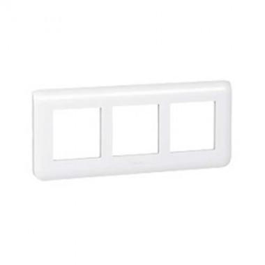 LEGRAND Mosaic Plaque triple horizontale E57 blanche - 078866