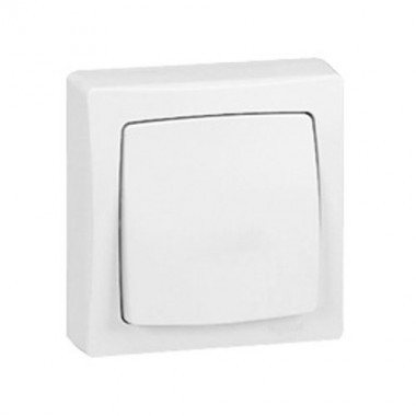interrupteur va et vient legrand en saillie blanc 086001. Black Bedroom Furniture Sets. Home Design Ideas