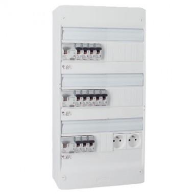 Tableau électrique 3 rangées 39 modules Legrand 401213