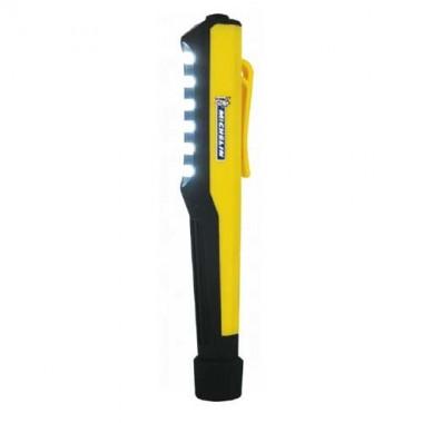 MICHELIN Lampe de poche stylo aimantée jaune à piles