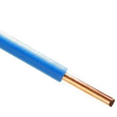 Fil électrique rigide HO7VU 2.5² bleu - Couronne de 100m - 2