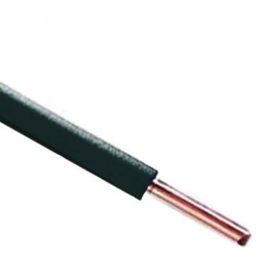 Fil électrique rigide HO7VU 2.5² noir - Couronne de 100m - 2