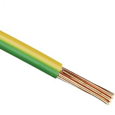 Fil électrique rigide HO7VR 6² vert / jaune - Couronne de 100m - 2