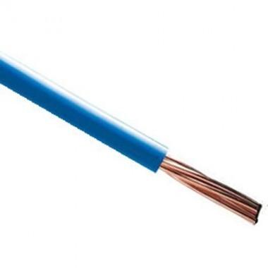 Fil électrique rigide HO7VR 10² bleu au mètre