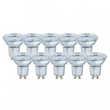 OSRAM Lot de 10 spots LED PAR16 dimmable GU10 36° 230V 6,4W(=50W) 350lm 2700°K