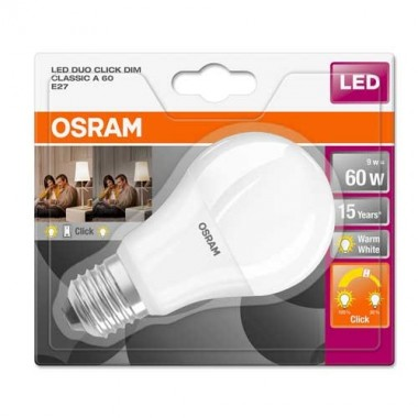 OSRAM Ampoule LED STAR+ Duo click dimmable E27 230V 9W standard 806lm - 3