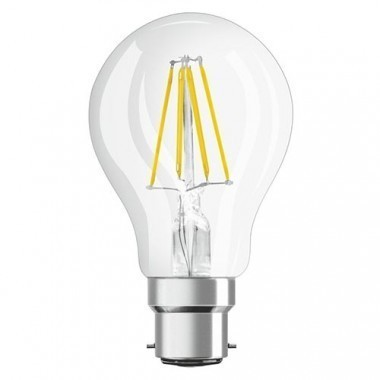 Lot de 4 Ampoules OSRAM LED filament B22 230V 7W(=60W) 806lm 2700°K standard