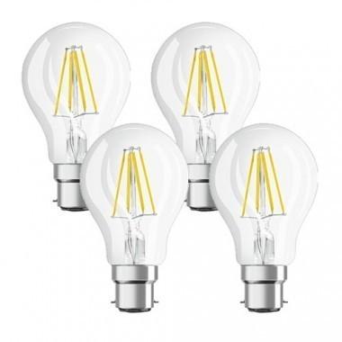 OSRAM Lot de 4 Ampoules LED filament B22 230V 7W(=60W) 806lm 2700°K standard