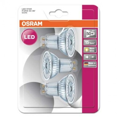 OSRAM Lot de 3 Spots LED PAR16 36° 350lm 4,3W 230V GU10