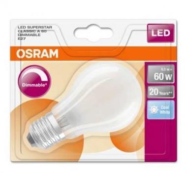 OSRAM Ampoule LED en verre dépoli E27 blanc froid 6,5W 806lm 230V dimmable standard - 3