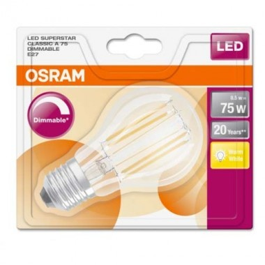 OSRAM Ampoule LED filament E27 230V 1055lm 8,5W dimmable standard - 3