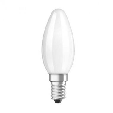 OSRAM Ampoule LED en verre dépoli flamme 470lm E14 4W 230V