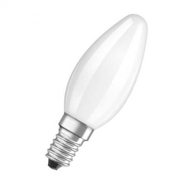 OSRAM Ampoule LED en verre dépoli flamme 470lm E14 4W 230V - 2