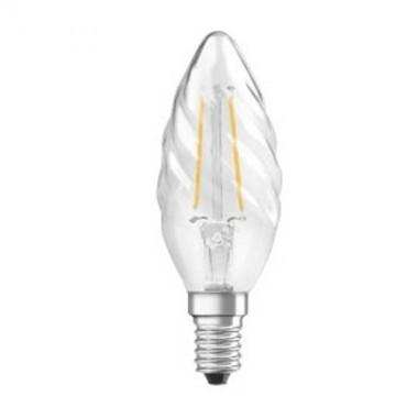 OSRAM Ampoule LED filament flamme torsadée E14 230V 2,8W 250lm