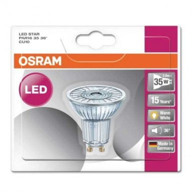 OSRAM Spot LED PAR16 GU10 36° 2,6W 230lm 230V - 3