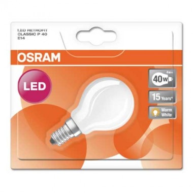 OSRAM Ampoule LED en verre dépoli E14 230V 4W 470lm sphérique - 3