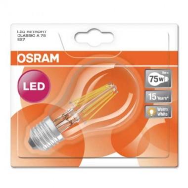 OSRAM Ampoule LED filament standard blanc chaud 8W 1055lm E27 230V - 3