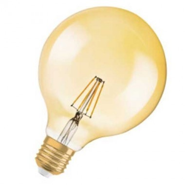 OSRAM Ampoule LED filament E27 230V édition 1906 4W 380lm globe or - 2