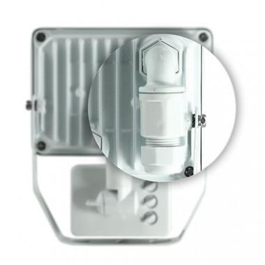 Projecteur extérieur LED 230V 10W 900lm 4000°K blanc extra plat à détection