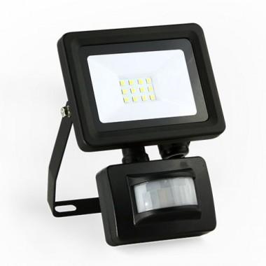 Projecteur extérieur LED extra plat à détection 230V 10W 900lm 4000°K noir