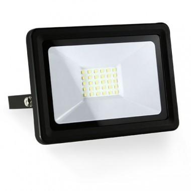 Projecteur extérieur LED extra plat 230V 30W 2700lm 4000°K noir