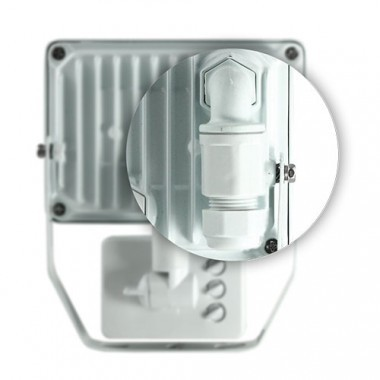 Projecteur extérieur LED 230V 30W 2700lm 4000°K blanc extra plat à détection