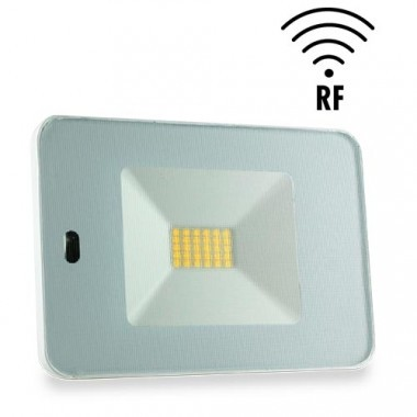 Projecteur extérieur LED 230V 30W 2550lm 4000°K blanc extra plat à détection radio avec télécommande