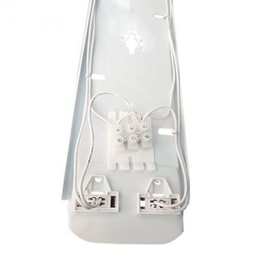 Réglette LED étanche grise 2 tubes LED 230V 2x18W 3600lm 120cm