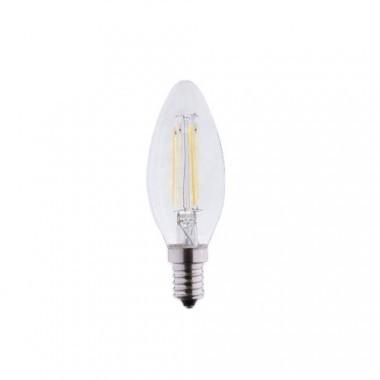 Lot de 4 Ampoules LED E14 230V 4W(=40W) flamme