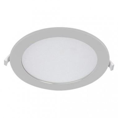 Downlight LED 230V 18W 1300lm CCT 220mm blanc extra plat à encastrer