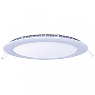 Downlight LED extra plat à encastrer 230V 15W 1350lm 4000°K 195mm blanc