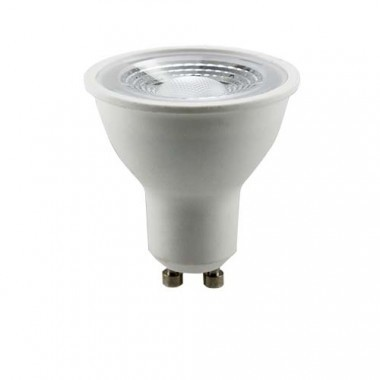Lot de 5 spots LED 85mm GU10 230V 5x5W 380lm 2700°K encastrables alu brossé