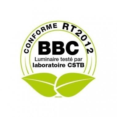 Downlight LED blanc BBC à encastrer 230V 15W 1500lm 4000°K 198mm
