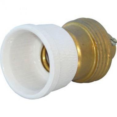 Anciennes douilles laiton bague porcelaine E14