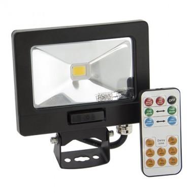 Projecteur Exterieur Led Extra Plat A Detection Avec Telecommande