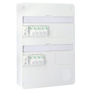SCHNEIDER Resi9 XP Tableau électrique prééquipé 2 rangées 2ID 40A 7 disjoncteurs