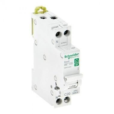 SCHNEIDER Resi9 XP Disjoncteur 20A Ph+N courbe C 230V  3kA - R9PFC620