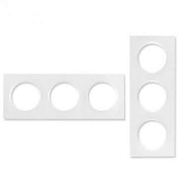 SCHNEIDER Odace Plaque triple blanche