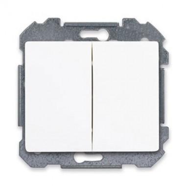 SIEMENS Delta Iris Mécanisme interrupteur double poussoir - Blanc